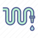 garden, hose, pipe, water icon