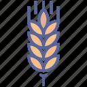 crop, gluten, harvest, wheat icon