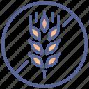 gluten, wheat, allergy, allergen icon