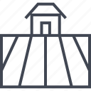 farm, farming, field, house, season, shelter icon