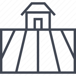 farm, farming, field, house, season, shelter icon