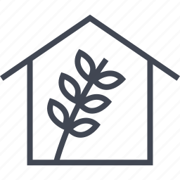 farming, home, house, seed icon
