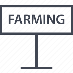 direction, farming, road, sign icon