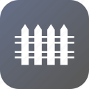 defence, farm, fence, railing, safe icon