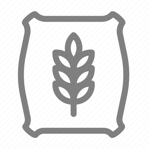 agriculture, carbohydrate, compost, farm, fertilizer, manure, sack icon