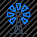 windmill, american, wind, mill, farm