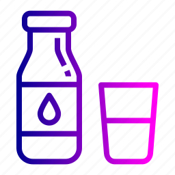 bottle, farm, glass, health, milk icon