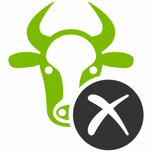 bull, cancel, cattle, denied, reject, stop cow, wrong icon