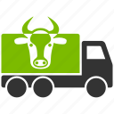 car, cow truck, delivery, logistics, transport, transportation, travel icon