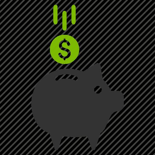account, banking, deposit, finance, pig, piggy bank, savings icon