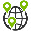 branches, company, global, globe map, internet, network, web icon