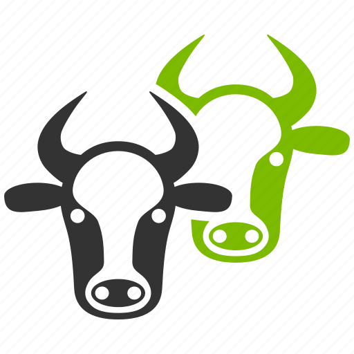 agriculture, bulls, cattle, cow farm, cows, livestock, meat icon