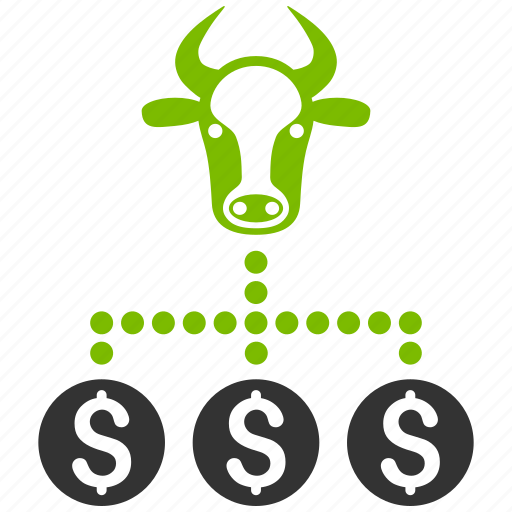 cattle, cow chart, group, livestock business, money, network, relations icon