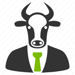 boss, bull, businessman, chief, cow head, manager, ox person icon
