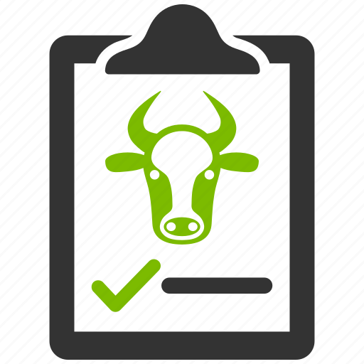 agreement, beef contract, bull, cattle, cow, document, ox icon