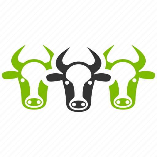 beef, bull, cattle, cows, livestock, neat calfs, ox heads icon