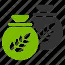 bag, bags, crop, grain storage, harvest, sacks, treasure, wheat icon