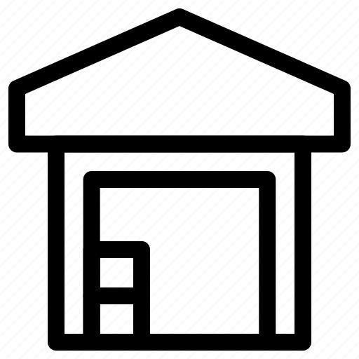Delivery, godown, storage, storehouse, transport, warehouse icon - Download on Iconfinder