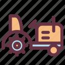 agriculture, farm, farming, vehicle, work icon