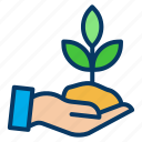 growth, nature, plant, planting icon