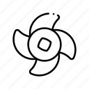 pin, pine, pinwheel, rotation, summer, tree, windmill icon