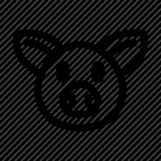 animal, hog, meat, pig, piggy icon