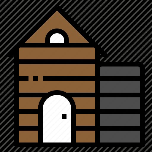 agriculture, barn, farm, house, silo icon