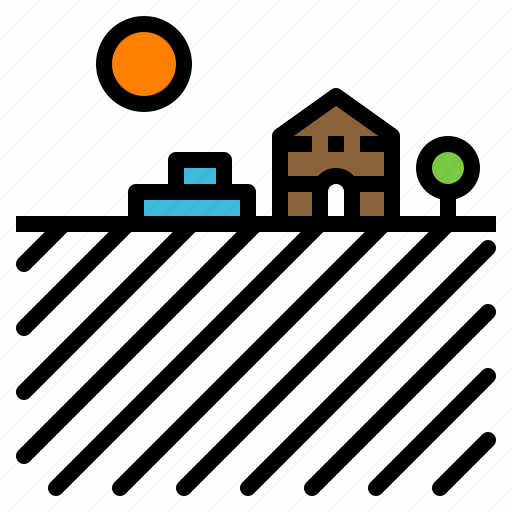 agriculture, barn, farm, garden, landscape icon