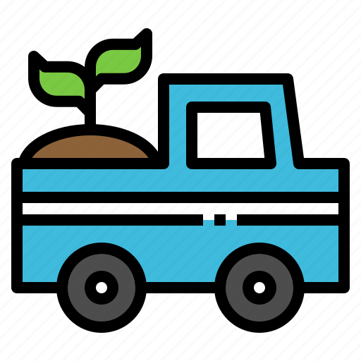 car, ecology, nature, pickup, plant icon