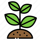 agriculture, farm, plant, sprout, tree icon