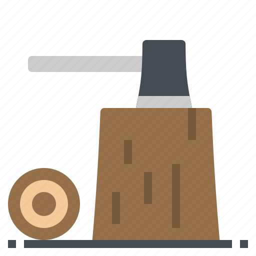 axe, environment, nature, stump, wood icon