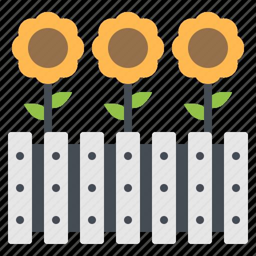 flower, garden, pot, sprout, sunflower icon