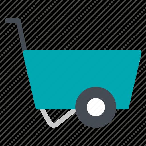 agriculture, construction, garden, trolley, wheelbarrow icon