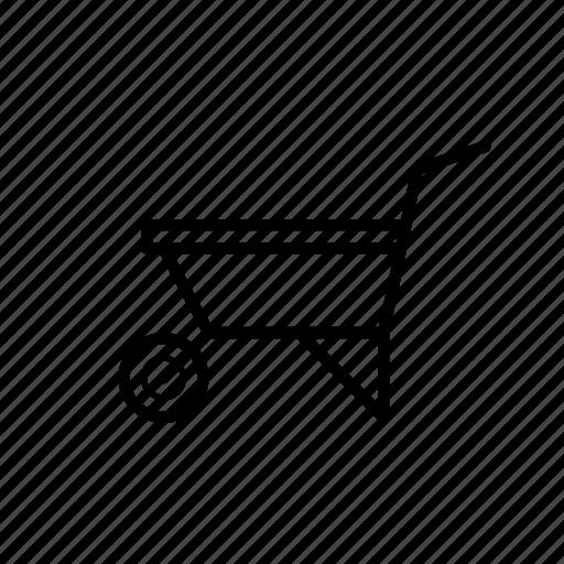 agriculture, tool, wheelbarrow icon
