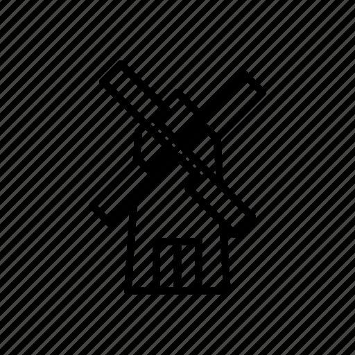 agriculture, farm, windmill icon