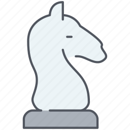 chess, figure, horse, move, play, strategy, tactic icon