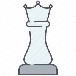 chess, figure, move, play, queen, strategy, tactic icon