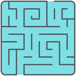 labyrinth, manoeuvre, maze, scheme, solution, strategy, tactic icon