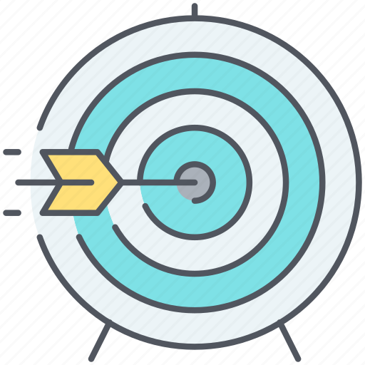aim, bullseye, focus, hit, precision, strategy, target icon