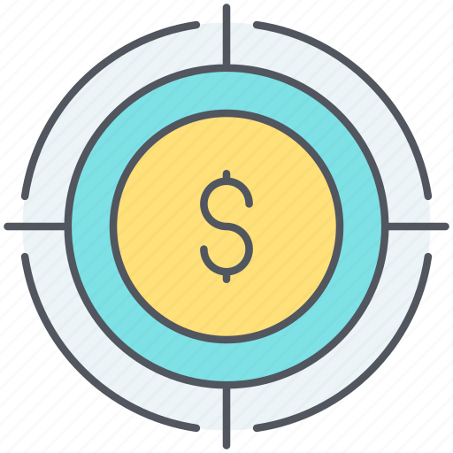audience, buyers, money, roi, strategy, target, target audience icon