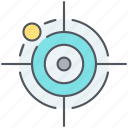 aim, bullseye, focus, miss, precision, strategy, target icon