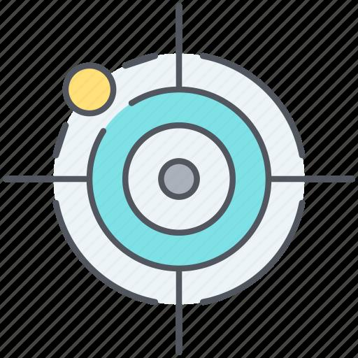 aim, bullseye, focus, miss, precision, strategy, target icon