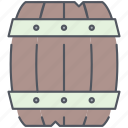 barrel, pirates, rum, ship, stock, storage, wooden icon