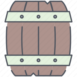 barrel, pirates, rum, ship, stock, storage, wooden icon