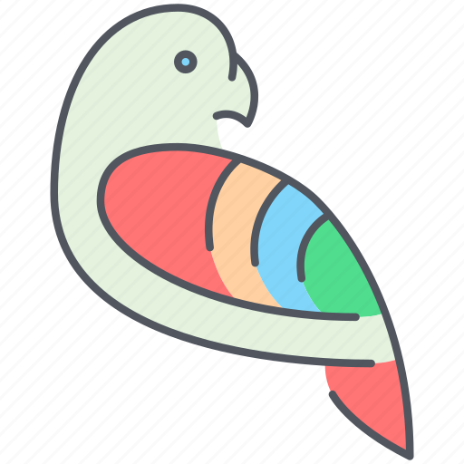 bird, parrot, pet, pirates, sailing, ship, spy icon