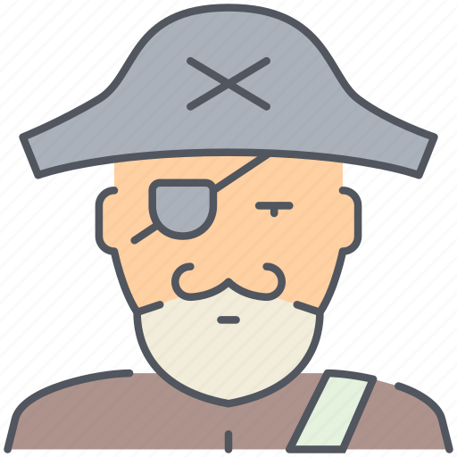 bandit, boat, person, pirate, sailor, ship, vessel icon