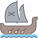 boat, conquer, journey, pirate, sailing, travel, vessel icon