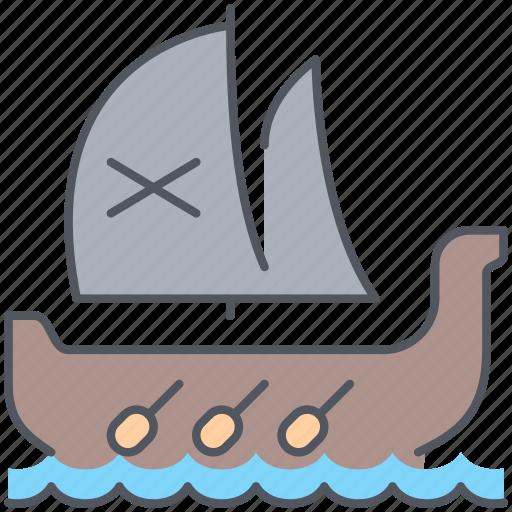 boat, conquer, journey, pirate, sailing, travel, vessel icon