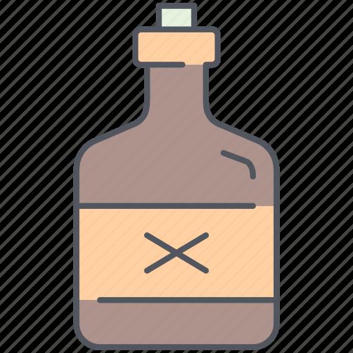 alcohol, bottle, drink, liquor, poison, rum, whiskey icon