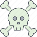 bones, danger, death, hazard, pirates, skeleton, skull icon